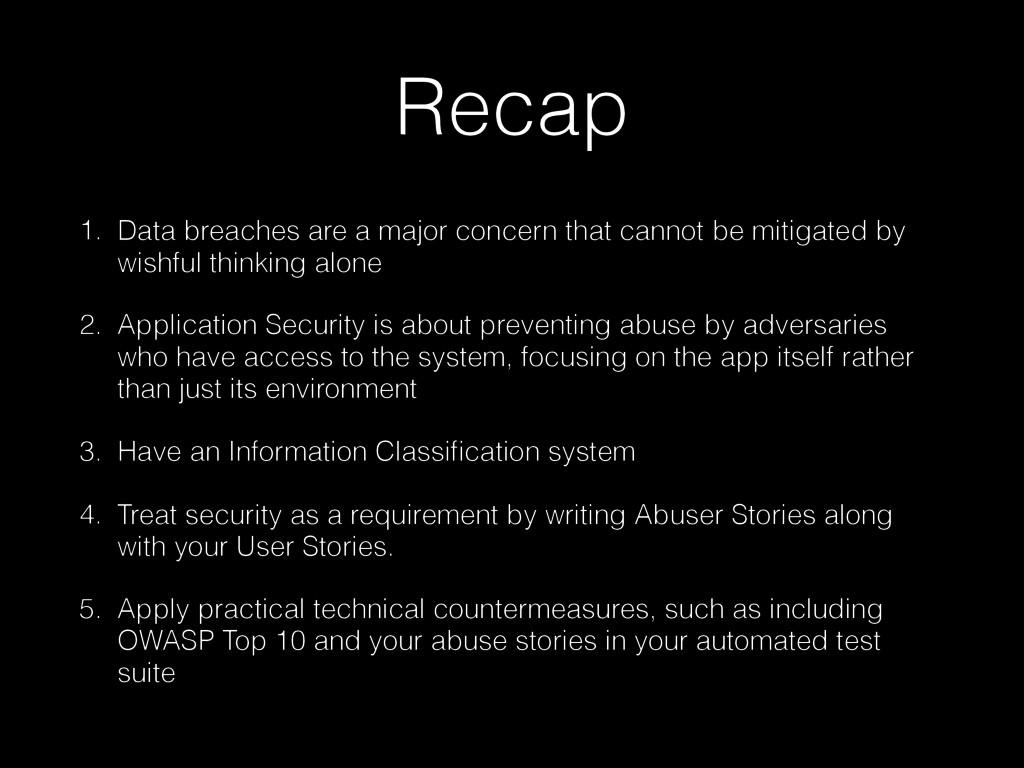 Recap 1. Data breaches are a major concern that...