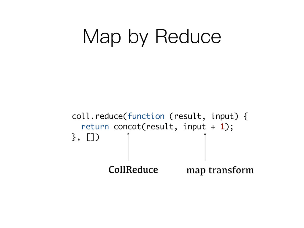 0DSE\5HGXFH coll.reduce(function (result, inp...