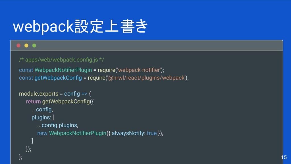 /* apps/web/webpack.config.js */ const WebpackNo...