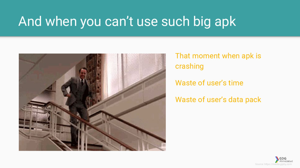 And when you can't use such big apk That moment...