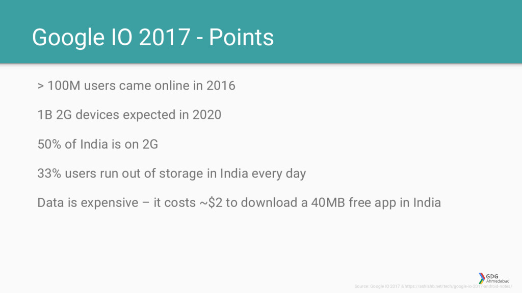 Google IO 2017 - Points > 100M users came onlin...
