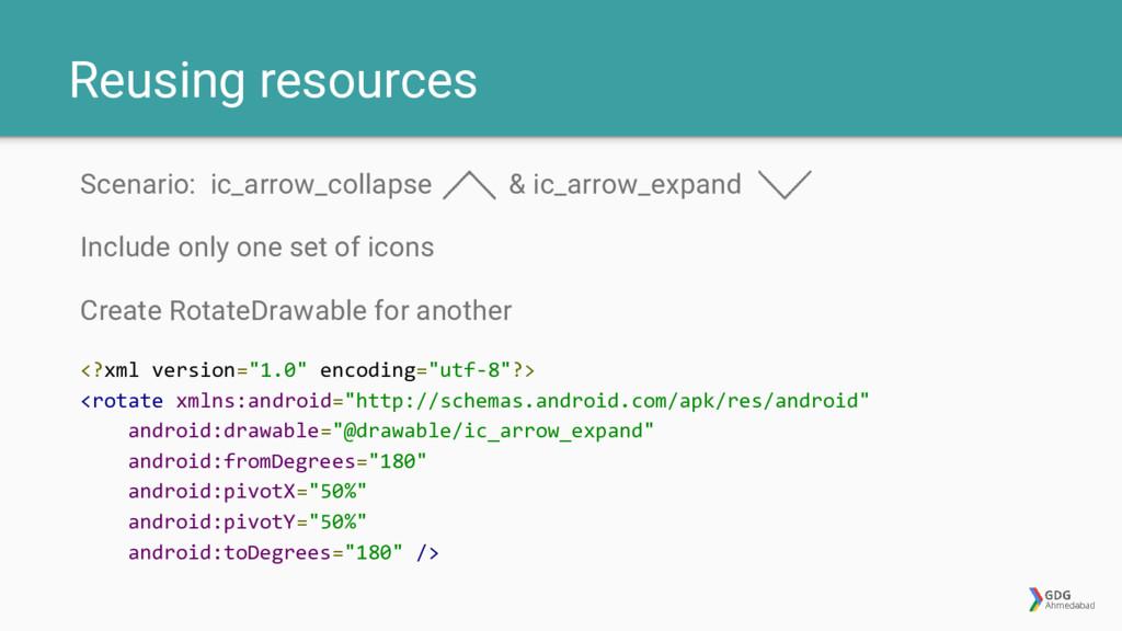 Reusing resources Scenario: ic_arrow_collapse &...