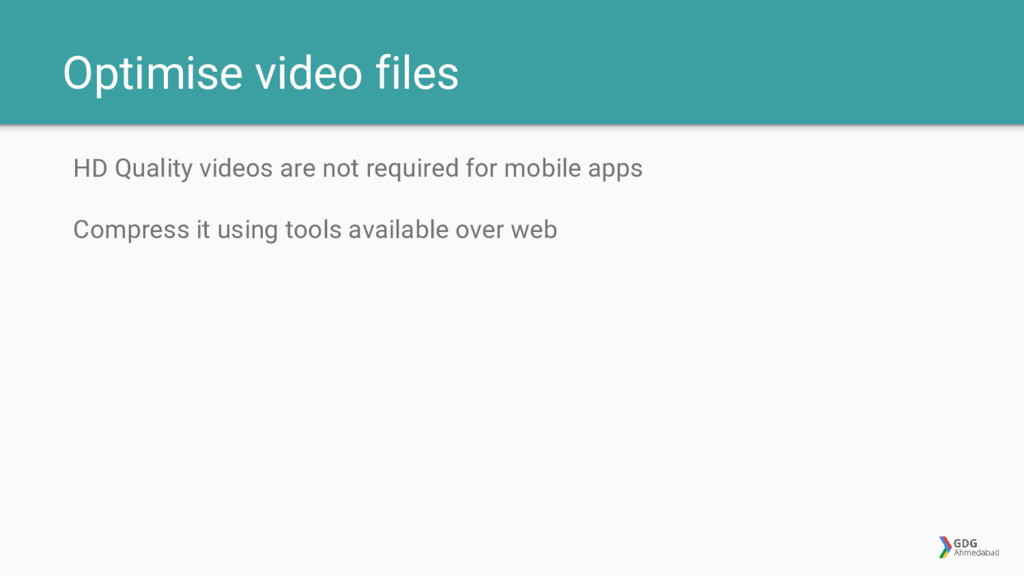 Optimise video files HD Quality videos are not ...