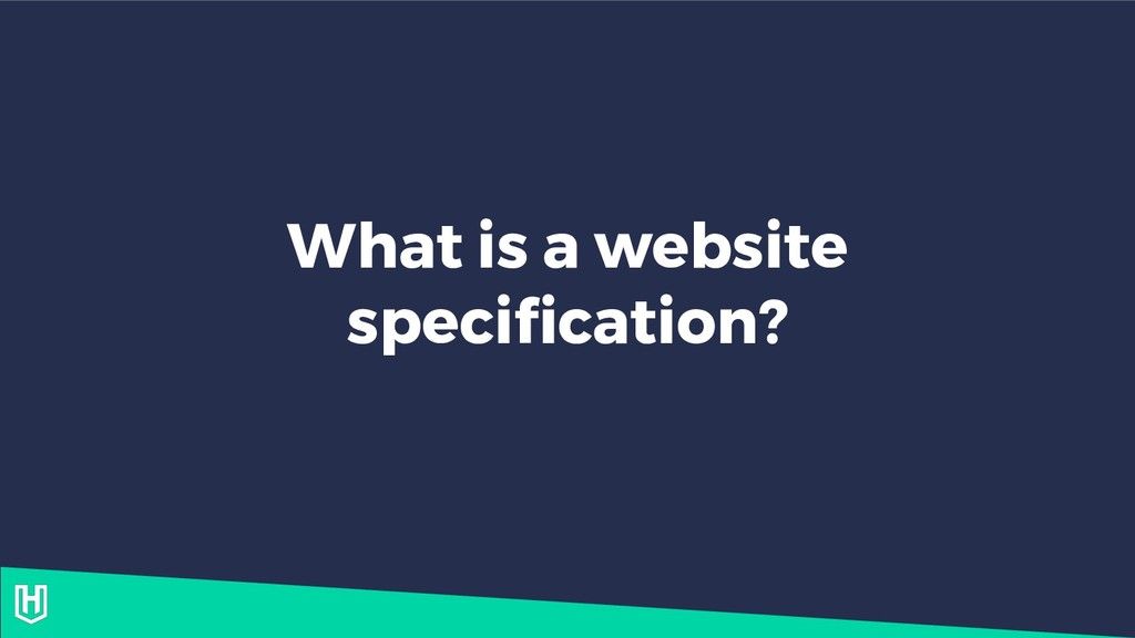 What is a website specification?