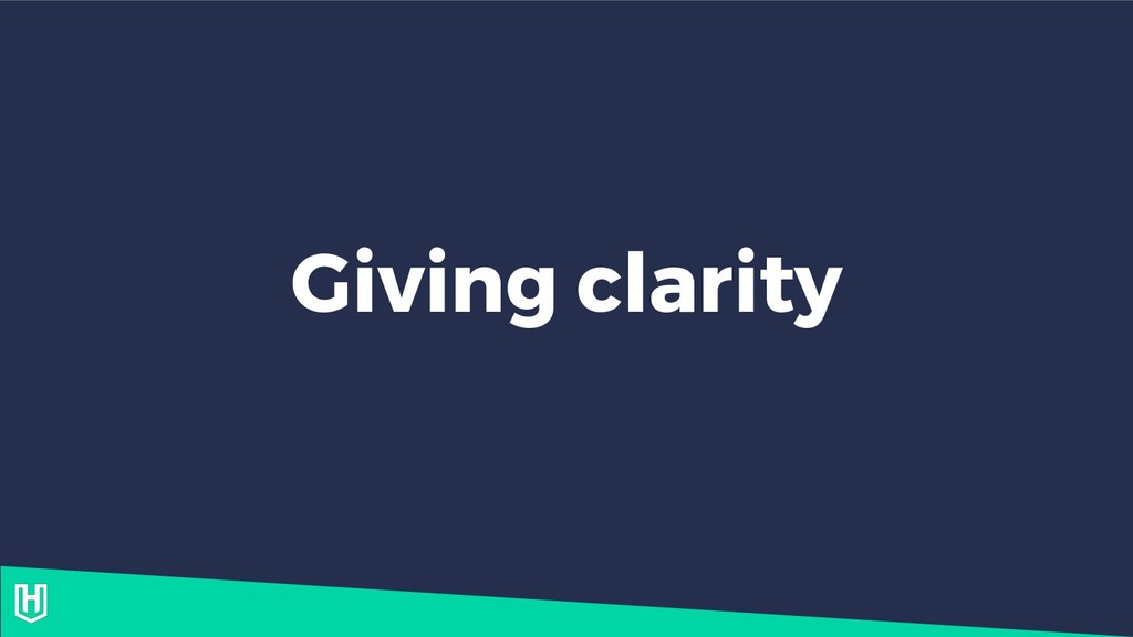 Giving clarity