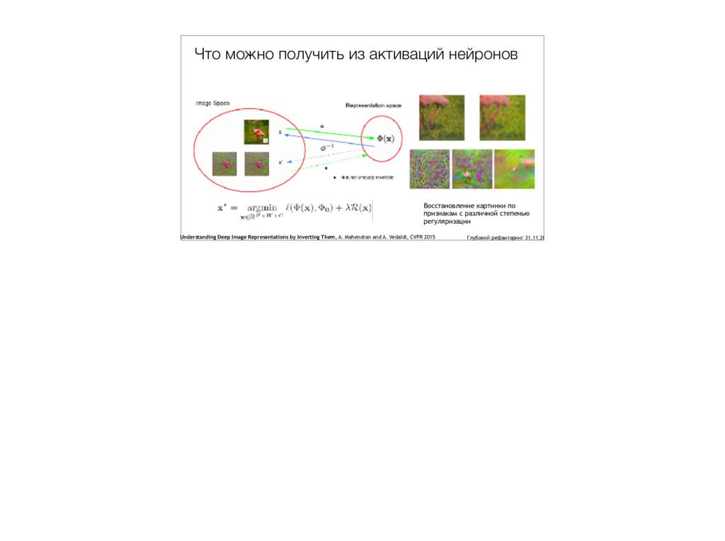 Что можно получить из активаций нейронов Восста...