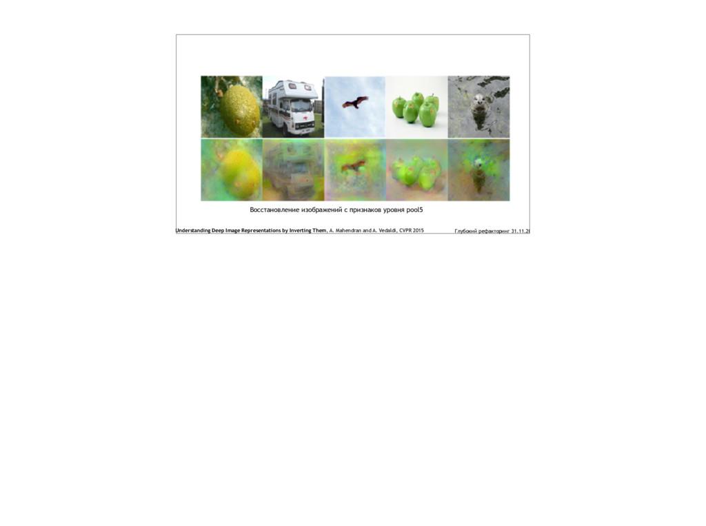 Восстановление изображений с признаков уровня p...