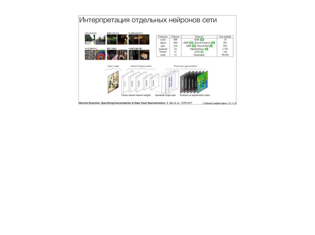 Интерпретация отдельных нейронов сети Network D...