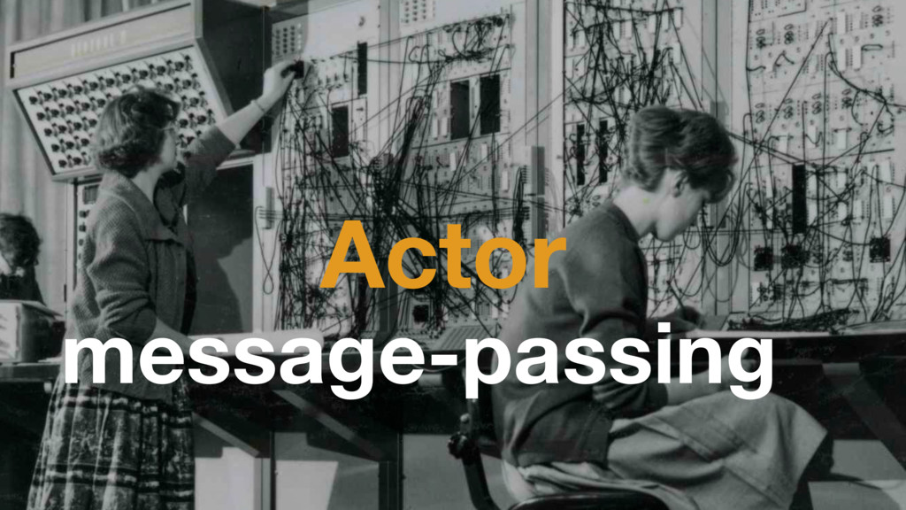 Actor message-passing