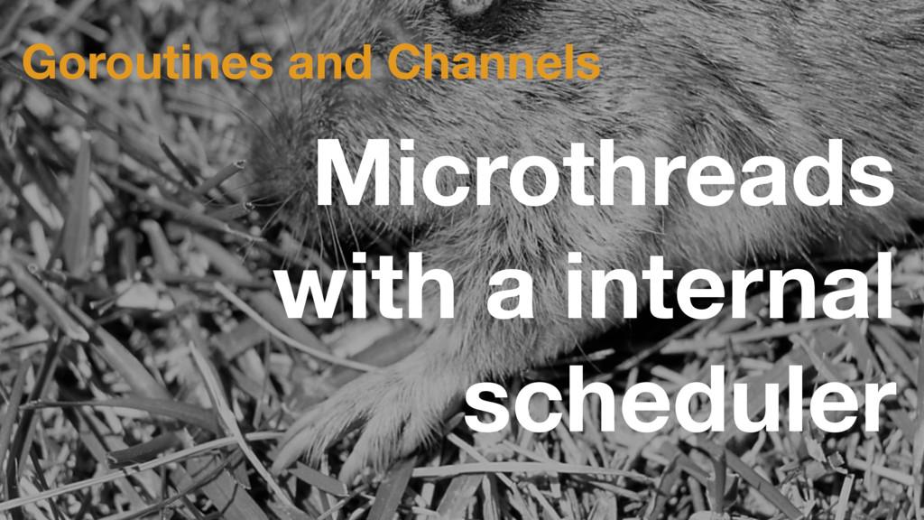 Microthreads with a internal scheduler Goroutin...