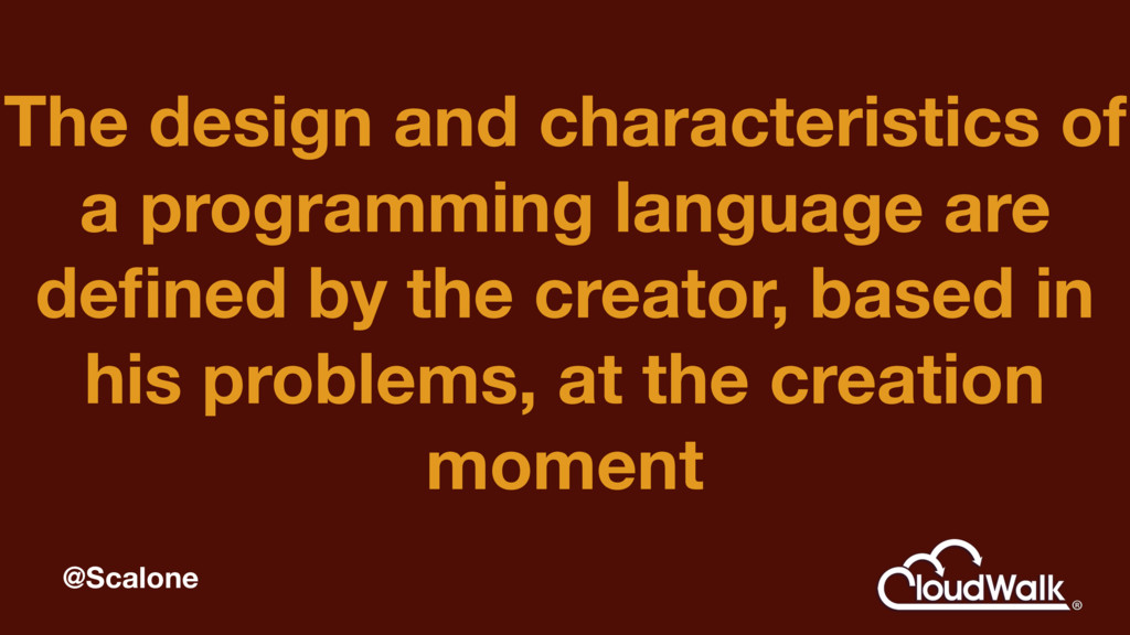 The design and characteristics of a programming...