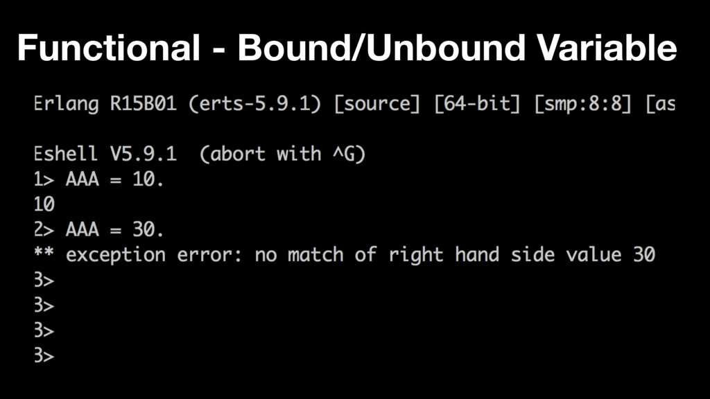 Functional - Bound/Unbound Variable