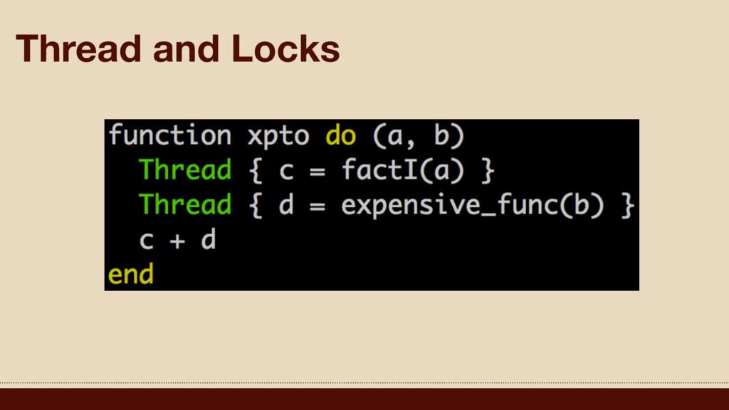 Thread and Locks