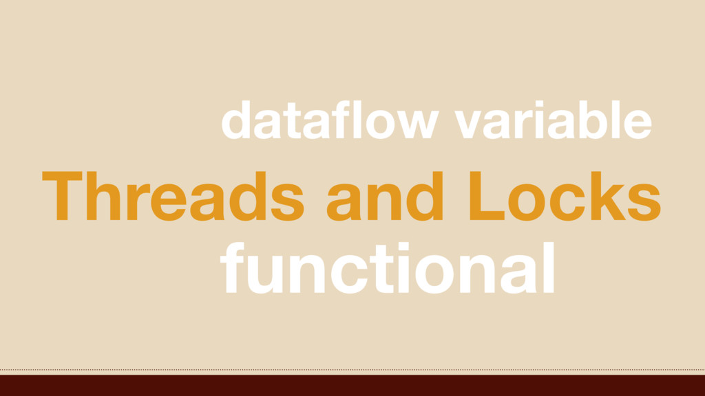 Threads and Locks dataflow variable functional