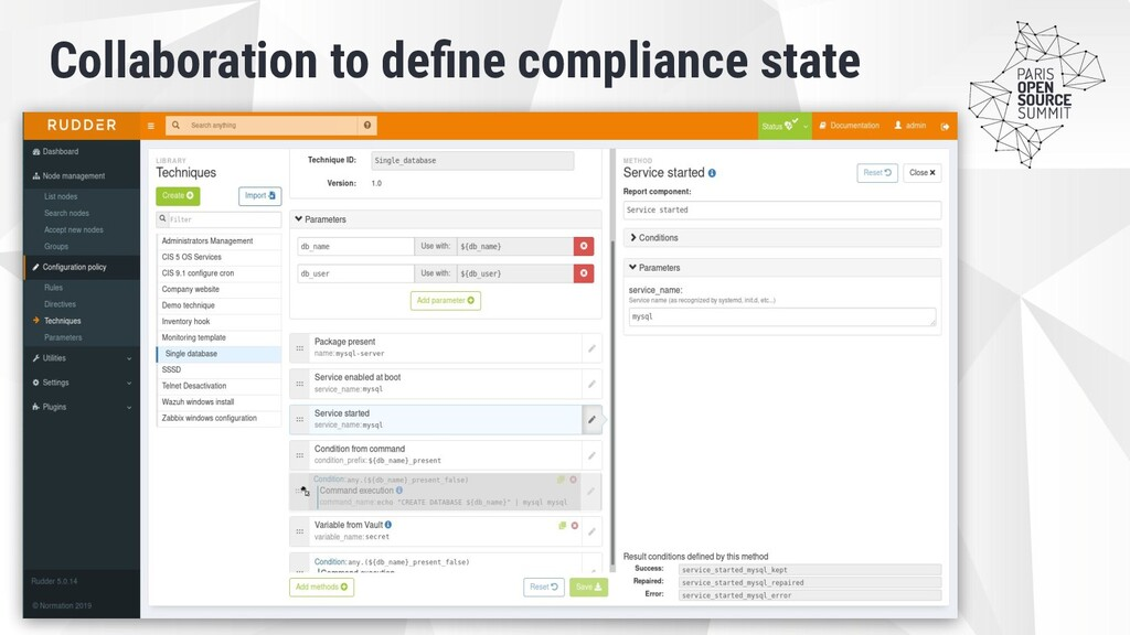 Collaboration to define compliance state