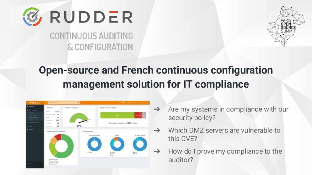 Open-source and French continuous configuration ...