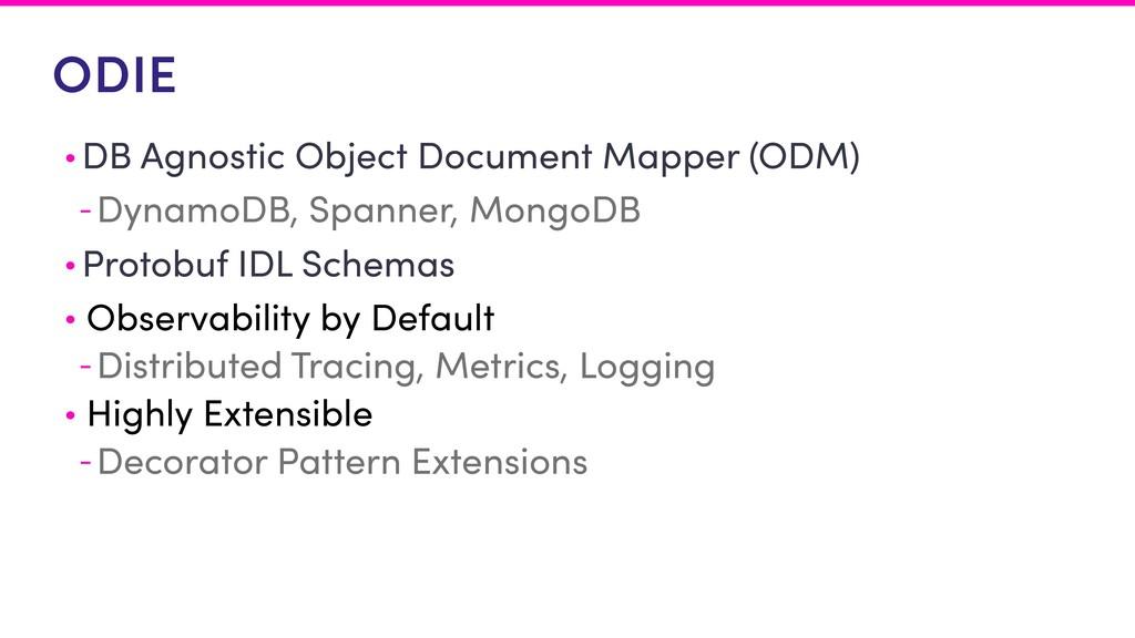 ODIE • DB Agnostic Object Document Mapper (ODM)...