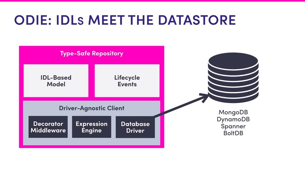 ODIE: IDLS MEET THE DATASTORE Type-Safe Reposit...