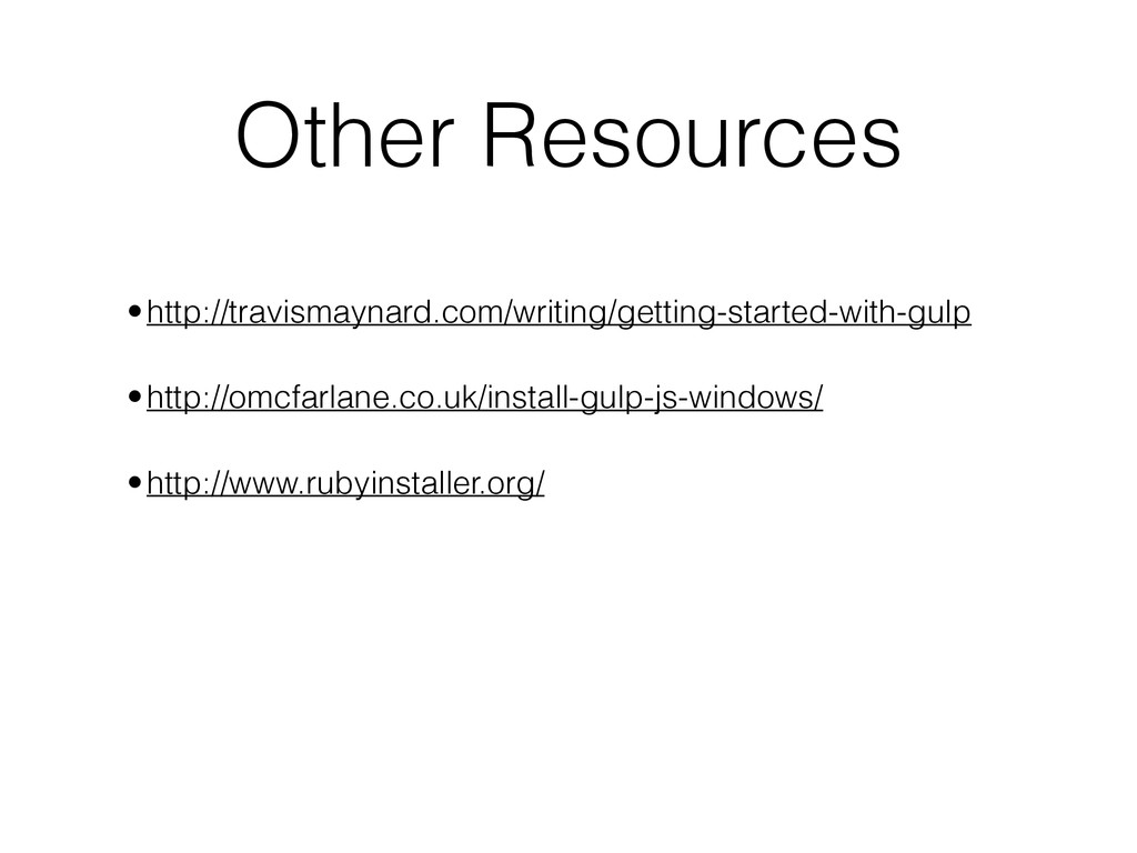 Other Resources ! •http://travismaynard.com/wri...