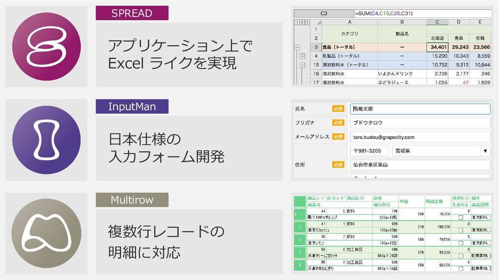 アプリケーション上で Excel ライクを実現 SPREAD 日本仕様の 入力フォーム開発 I...