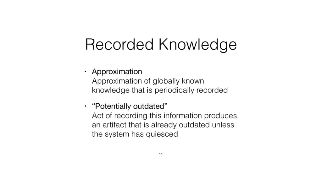 Recorded Knowledge • Approximation Approximati...