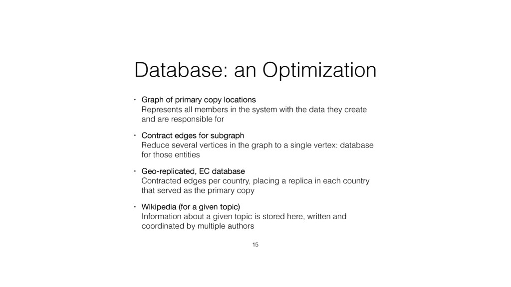 Database: an Optimization • Graph of primary co...