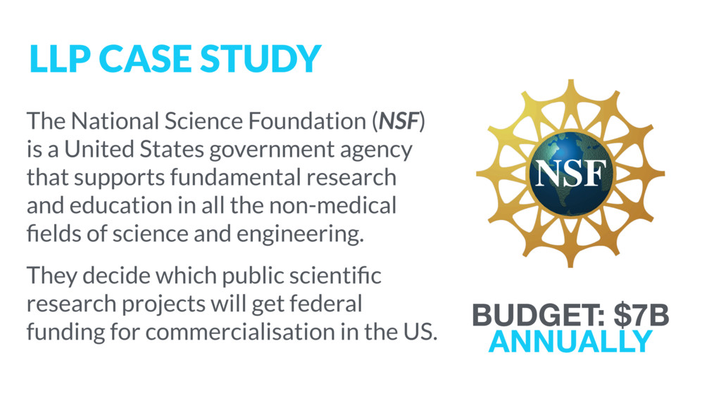 The National Science Foundation (NSF) is a Unit...