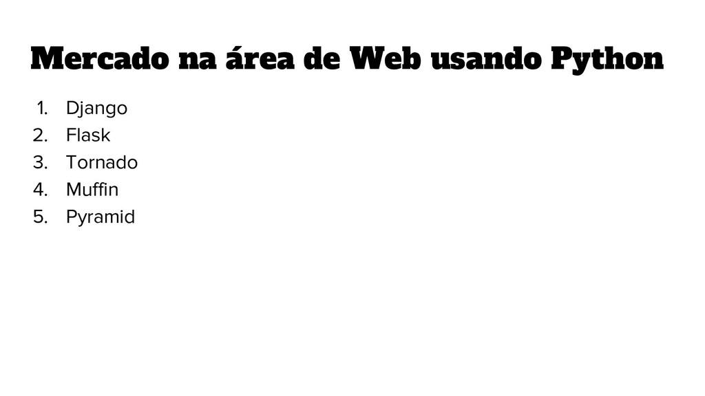 Mercado na área de Web usando Python 1. Django ...