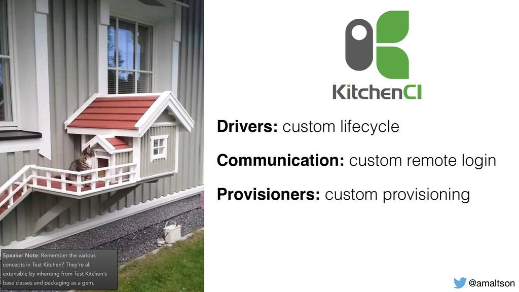 @amaltson Drivers: custom lifecycle Communicati...