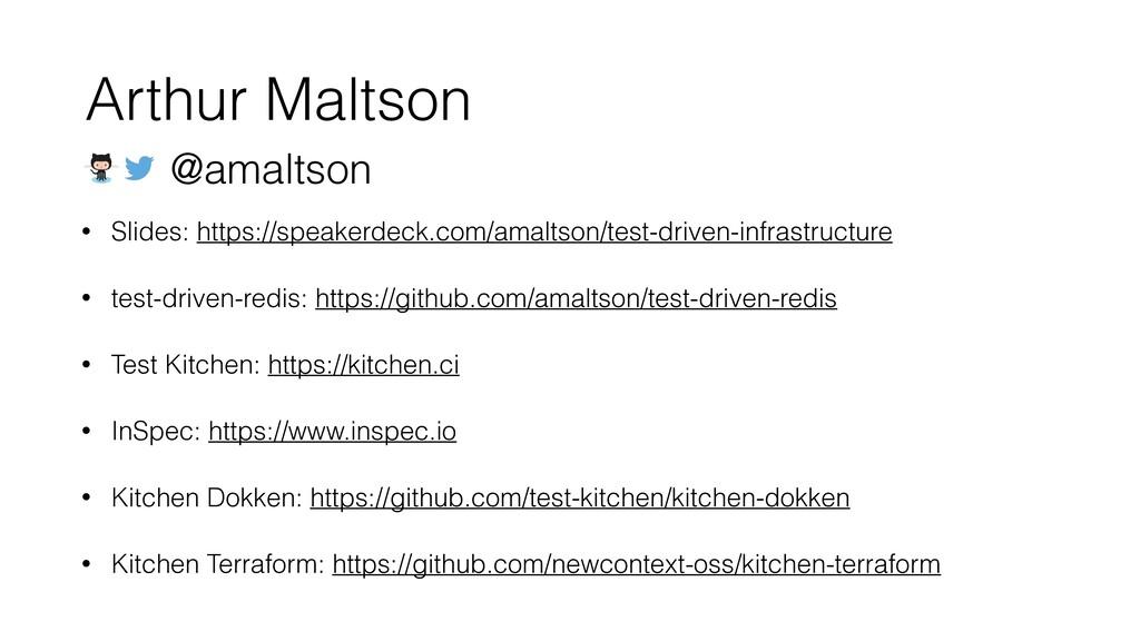 • Slides: https://speakerdeck.com/amaltson/test...