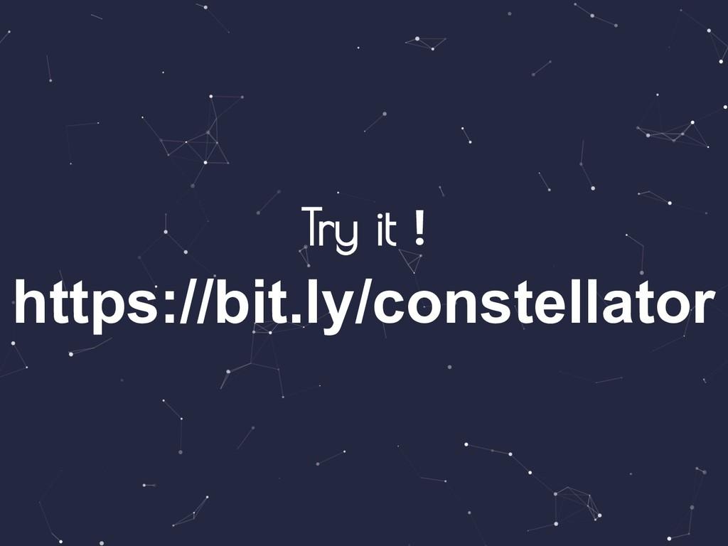Try it ! https://bit.ly/constellator
