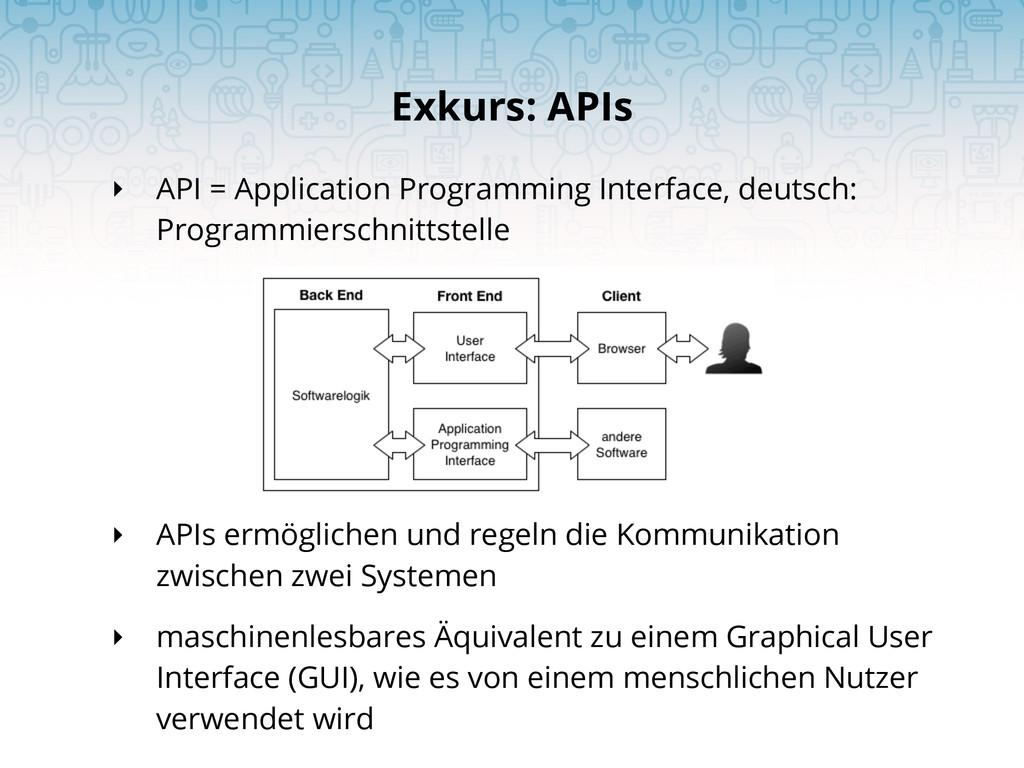 ‣ API = Application Programming Interface, deut...