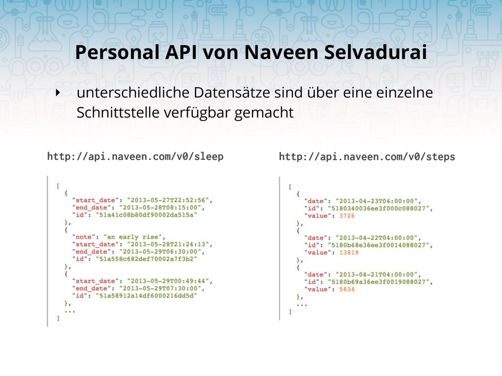 Personal API von Naveen Selvadurai http://api.n...