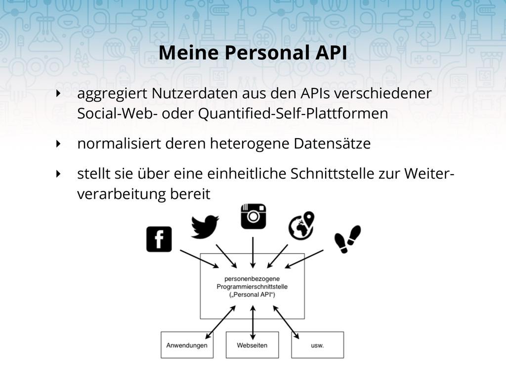 ‣ aggregiert Nutzerdaten aus den APIs verschied...