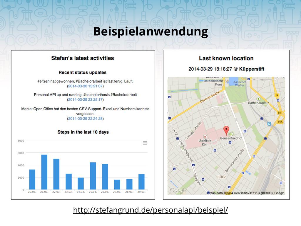 Beispielanwendung http://stefangrund.de/persona...