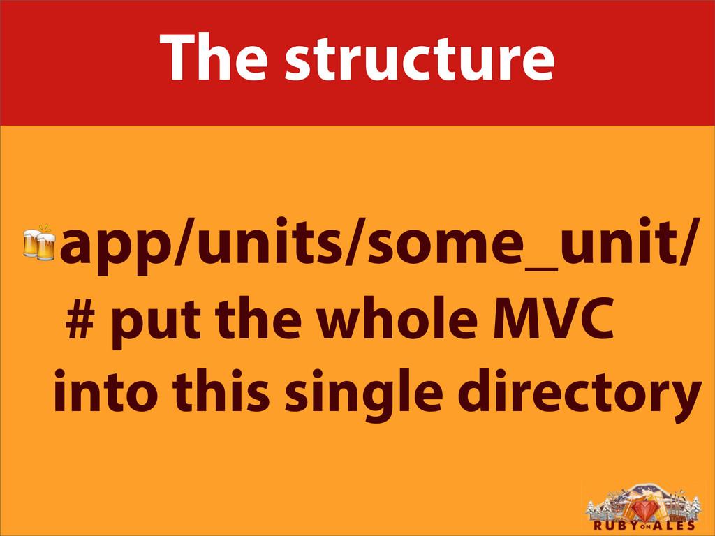 The structure app/units/some_unit/ # put the wh...