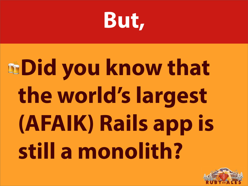 But, Did you know that the world's largest (AFA...