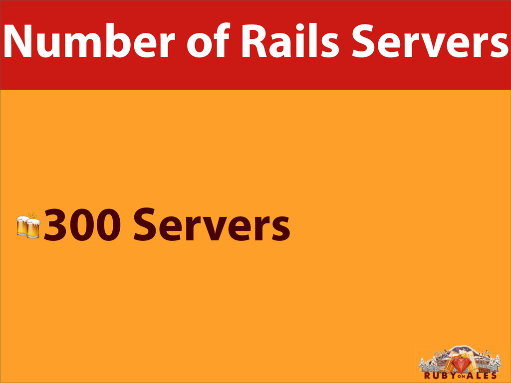 Number of Rails Servers 300 Servers