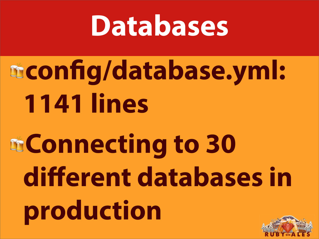 Databases con g/database.yml: 1141 lines Connec...