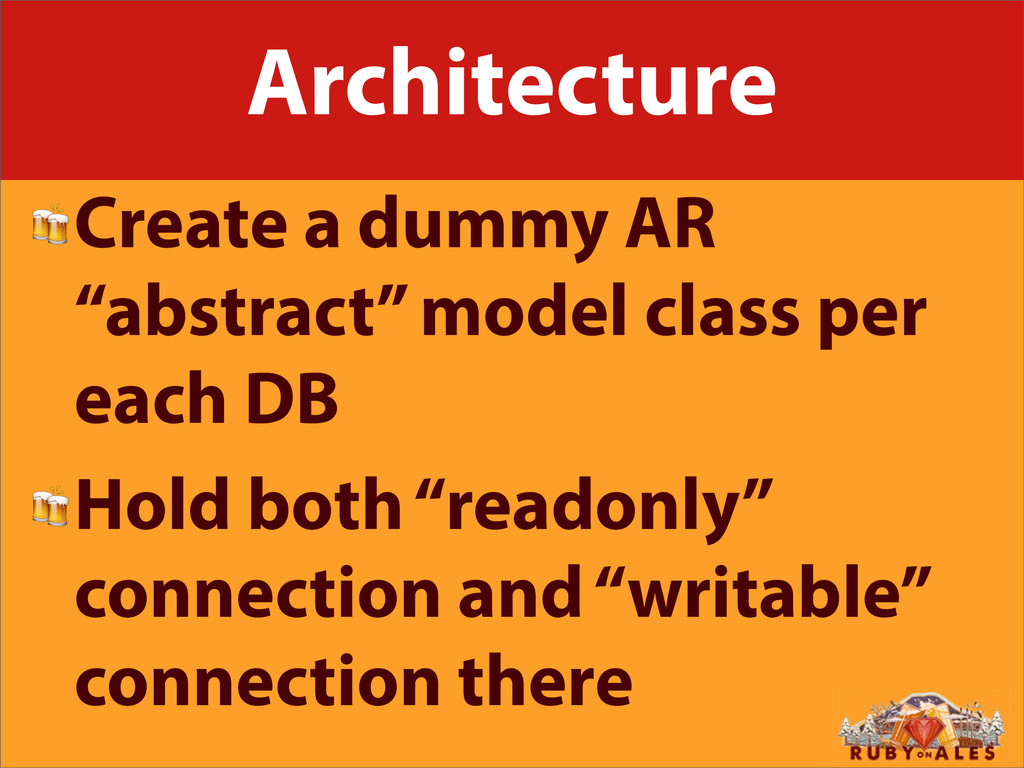 "Architecture Create a dummy AR ""abstract"" model..."