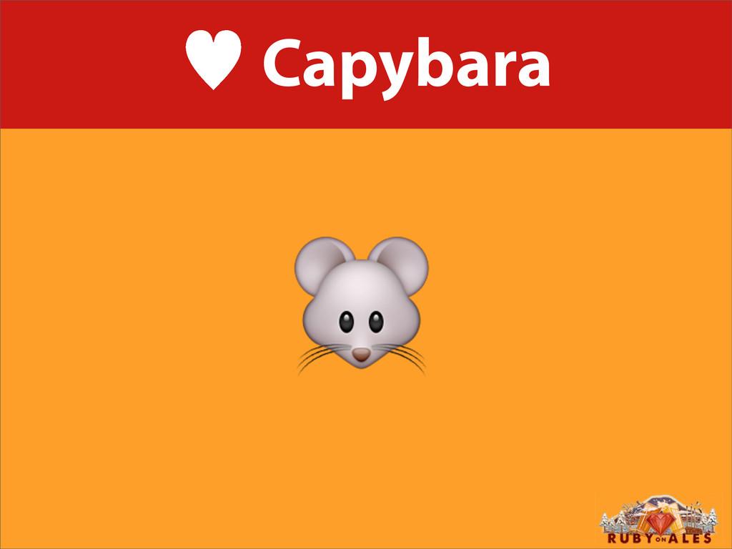 — Capybara