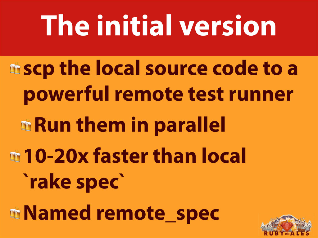 The initial version scp the local source code t...
