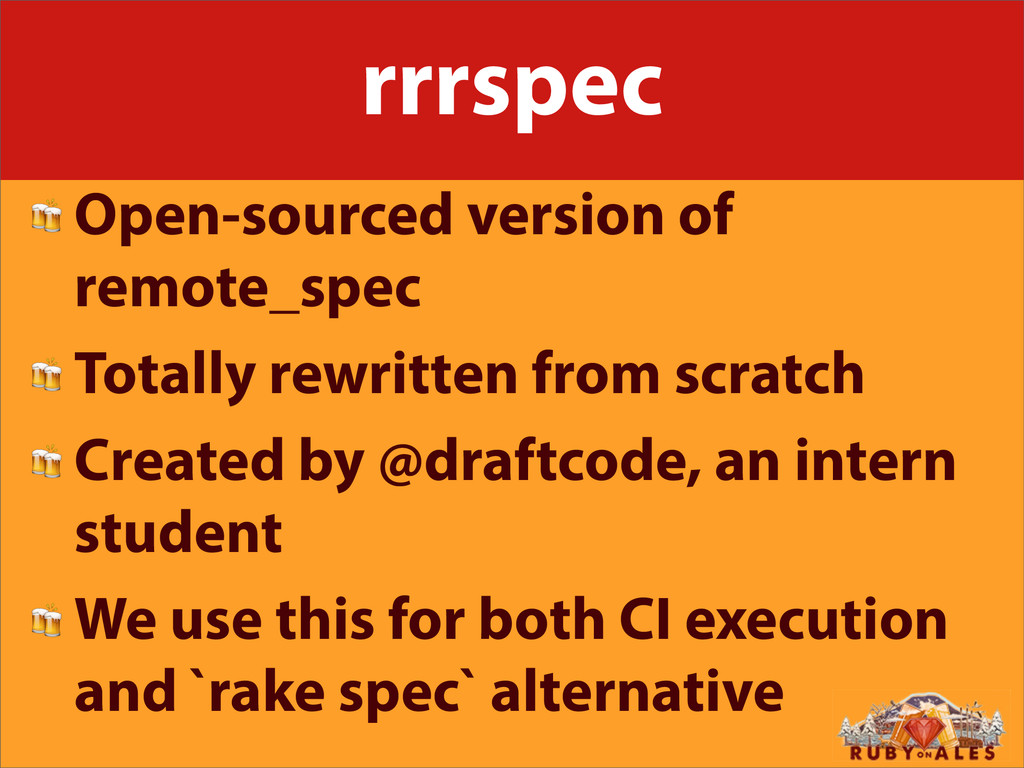 rrrspec  Open-sourced version of remote_spec  T...