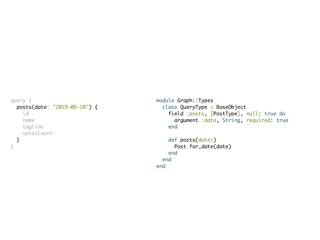 module Graph::Types class QueryType < BaseObjec...