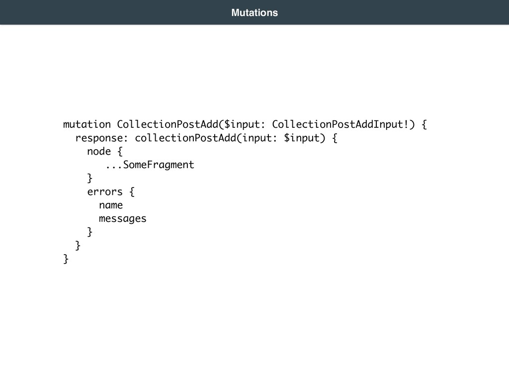 mutation CollectionPostAdd($input: CollectionPo...