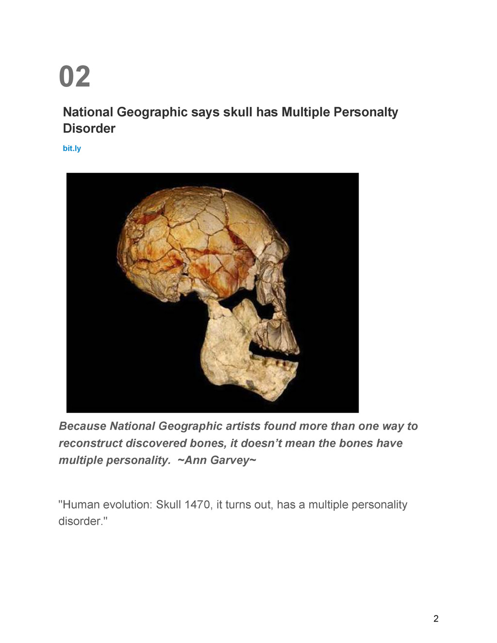 02 National Geographic says skull has Multiple ...