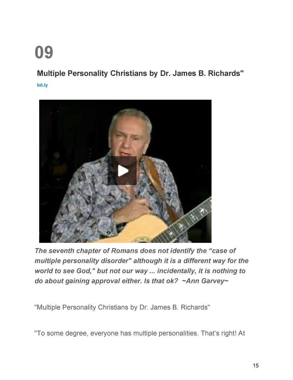 09 Multiple Personality Christians by Dr. James...