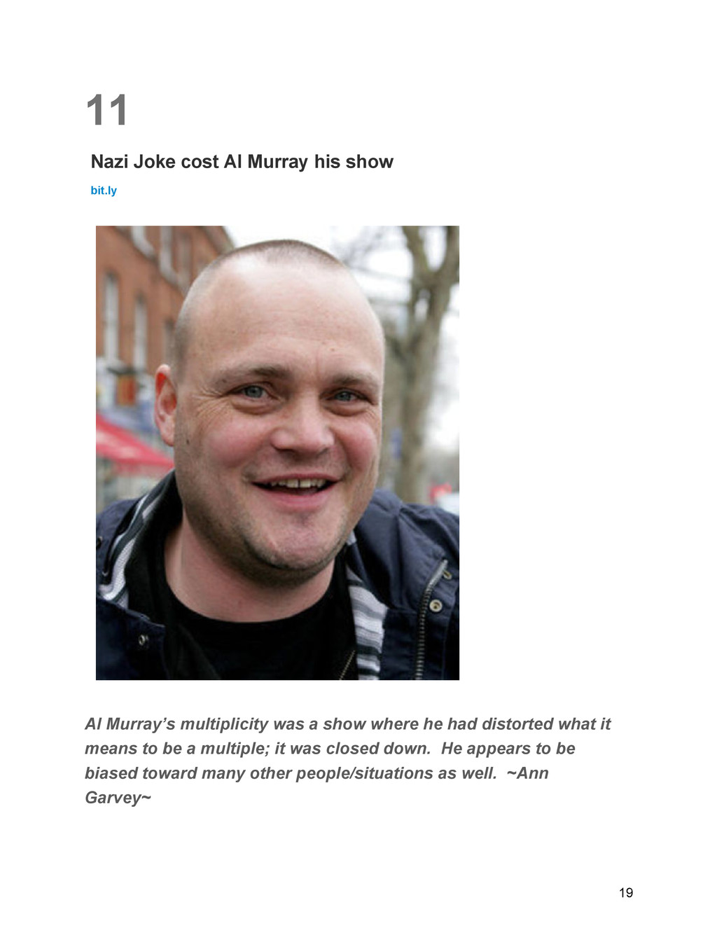 11 Nazi Joke cost Al Murray his show bit.ly Al ...