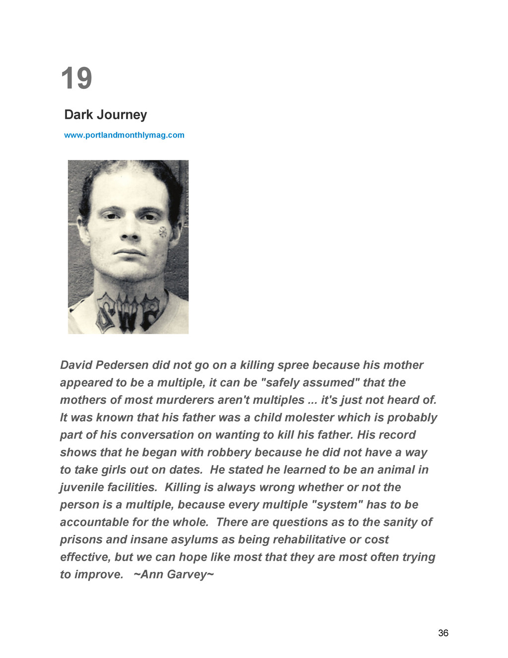 19 Dark Journey www.portlandmonthlymag.com Davi...