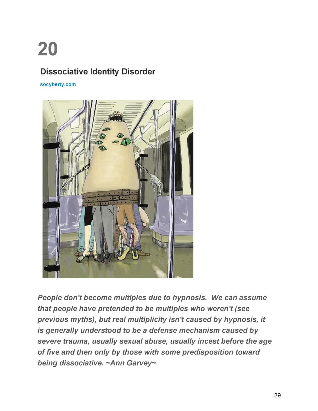 20 Dissociative Identity Disorder socyberty.com...